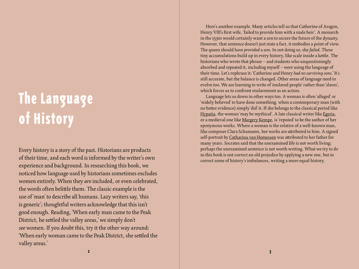 Spread featuring Edita for text, with reversed Triplex Condensed Sans for the heading.