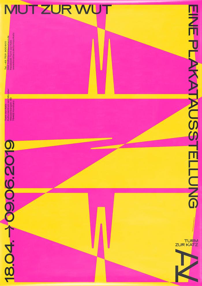 Mut zur Wut exhibition poster, spring 2019.