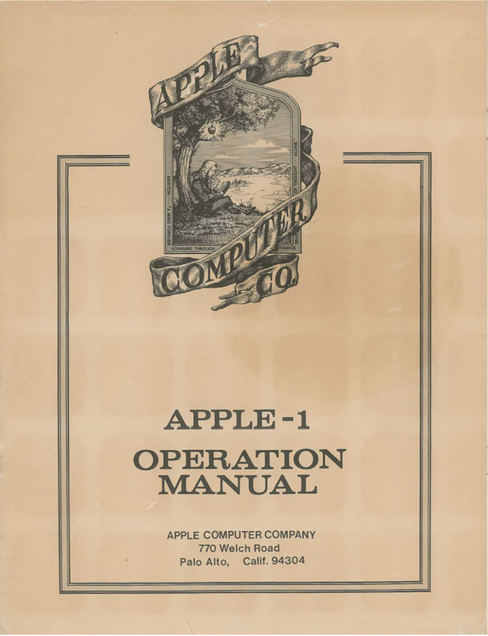 Apple-1 Operation Manual 1