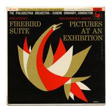 The Philadelphia Orchestra – <cite>Stravinsky: Firebird Suite / Moussorgsky–Ravel: Pictures at an Exhibition</cite> album art