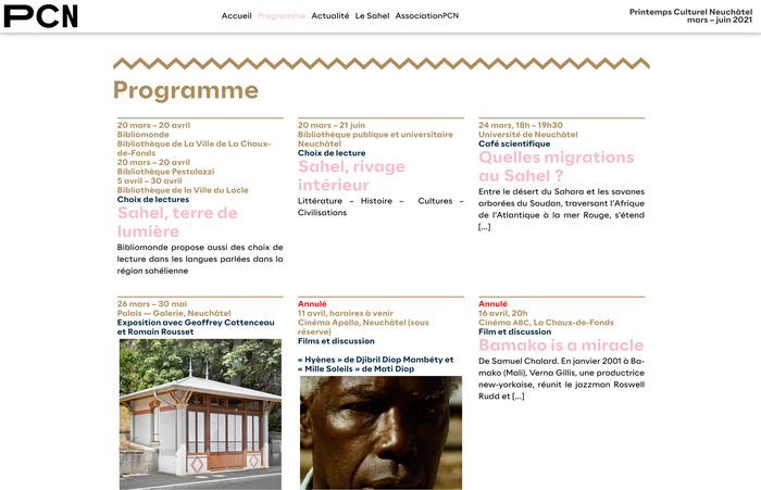 Sahel, Printemps Culturel Neuchâtel 2021 4