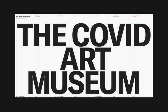 The Covid Art Museum website 1
