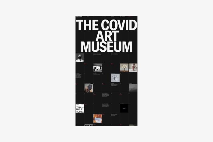 The Covid Art Museum website 2