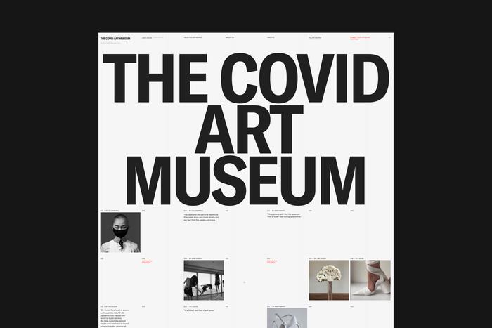 The Covid Art Museum website 6
