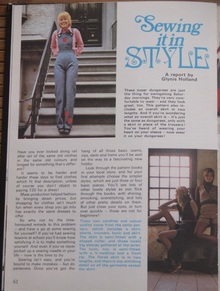 """<cite>The Sun</cite> – <cite>Annual for Girls</cite> 1973,""""Sewing it in STYLE"""" article by Glynis Holland"""