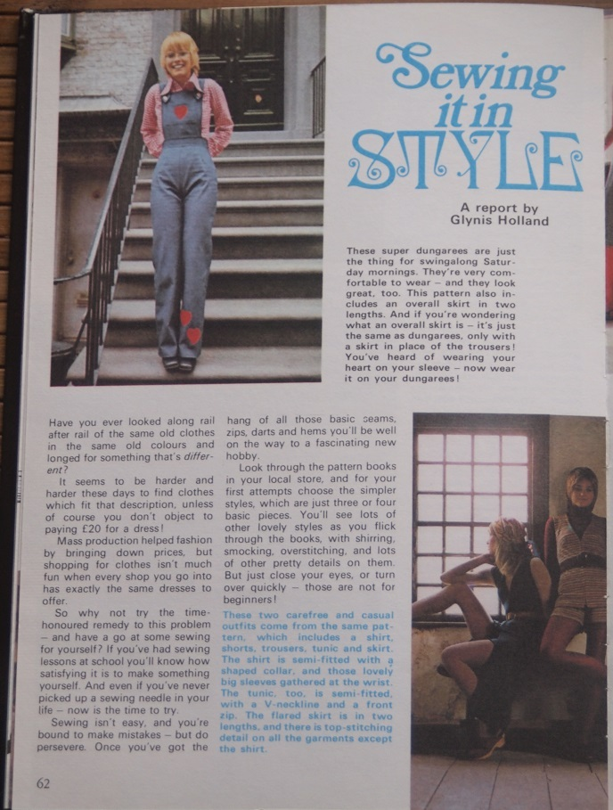 'Sewing it in STYLE' article (page 62)