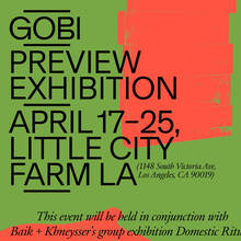 <cite>GOBI Preview Exhibition</cite> poster