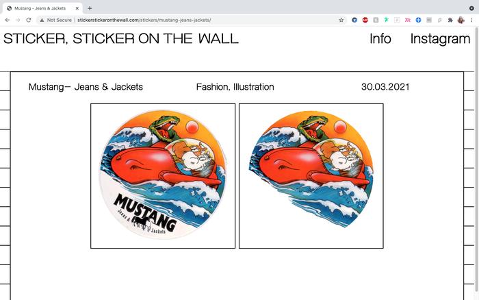 Sticker, Sticker on the Wall website 3