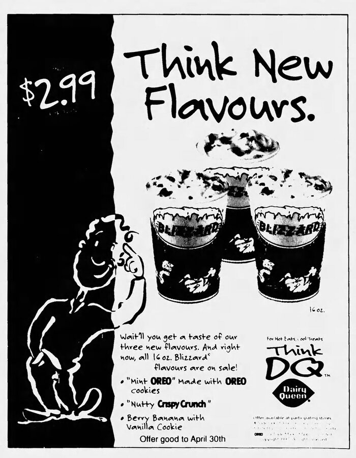 Dairy Queen print ad (1997)