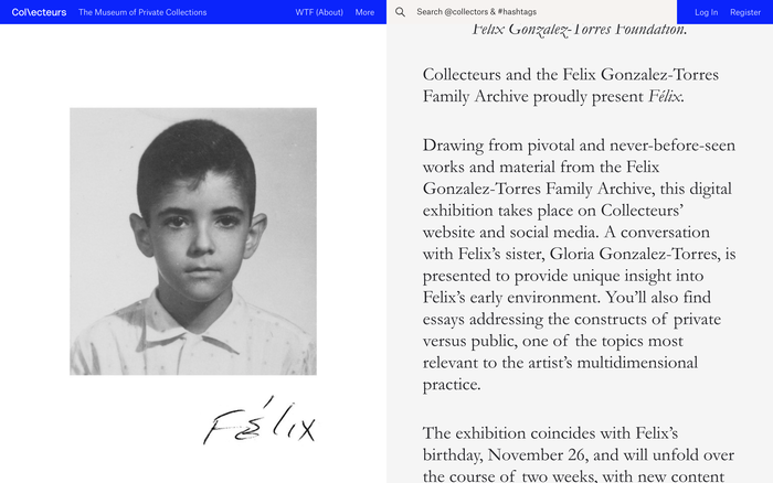 Collecteurs, The Museum of Private Collections website 4