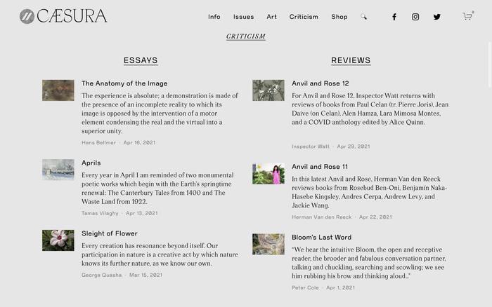 Caesura website 2