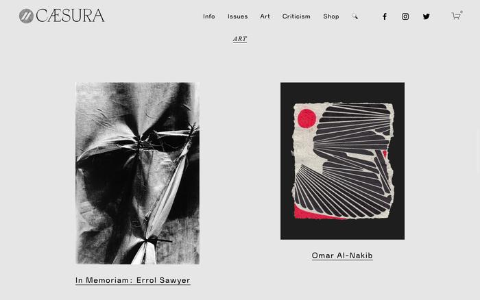 Caesura website 3