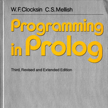 <cite>Programming in Prolog</cite> by Clocksin &amp; Mellish (Springer-Verlag)