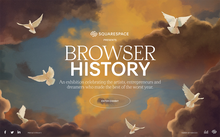 <cite>Browser History </cite> online exhibition by Squarespace