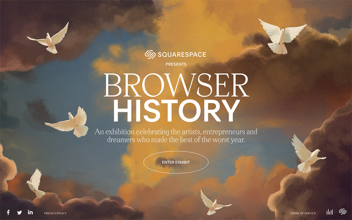 Browser History  online exhibition by Squarespace 1