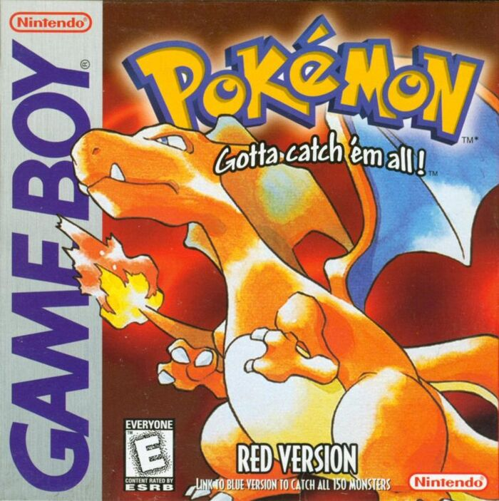 Box art for the Game Boy game Pokémon Red.
