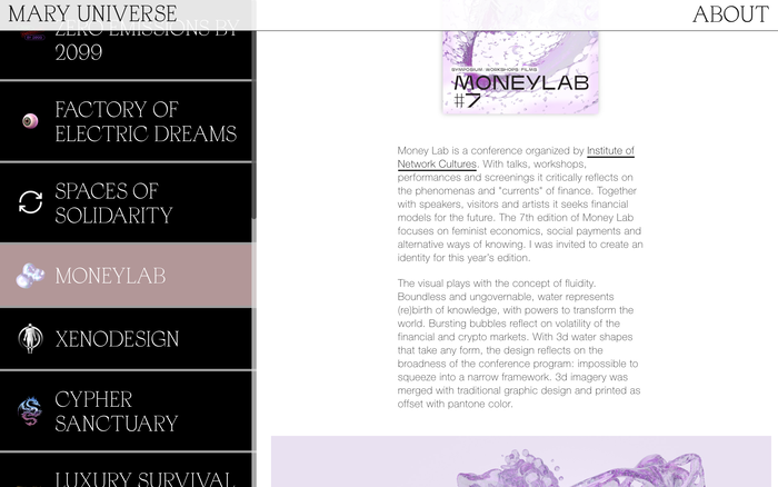 Mary Universe website 5