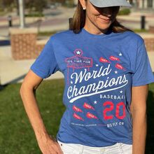 """""""It's Time for World Champions Baseball"""" T-shirt"""