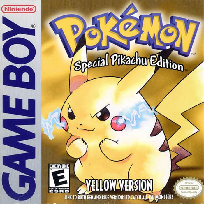 Box art for Pokémon Yellow: Special Pikachu Edition.