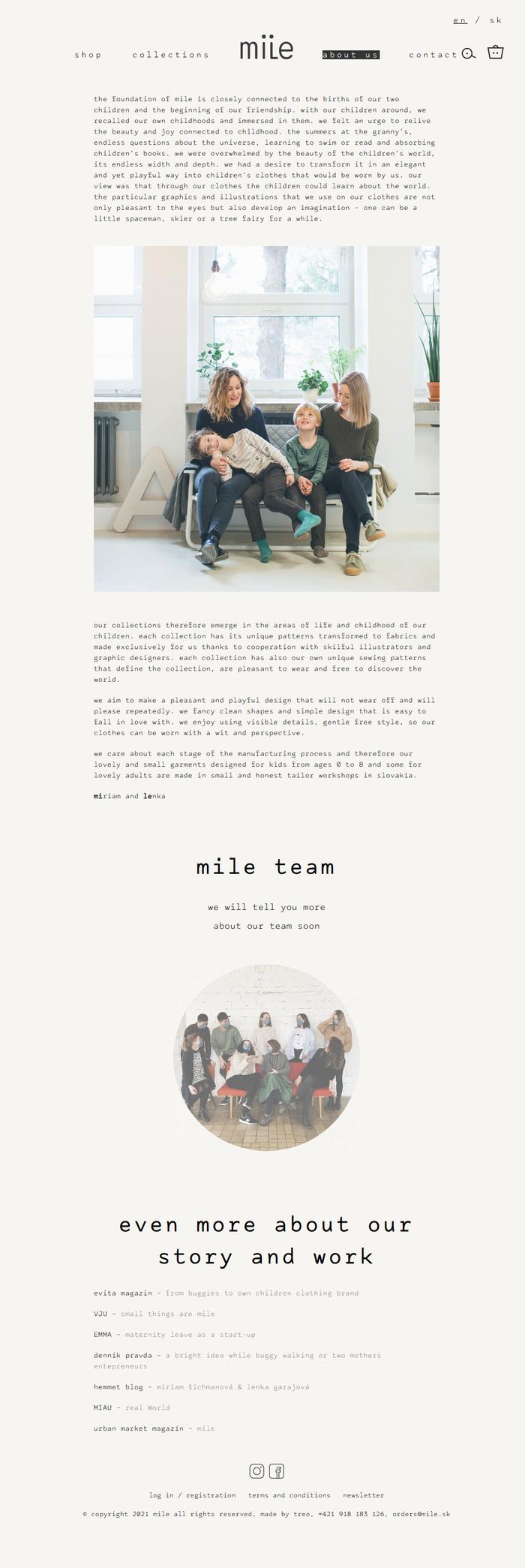 Mile website 3