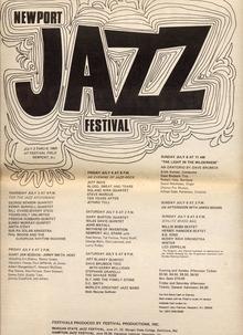 1969 Newport Jazz Festival Poster