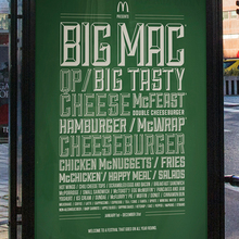 McDonald's festival line-up poster