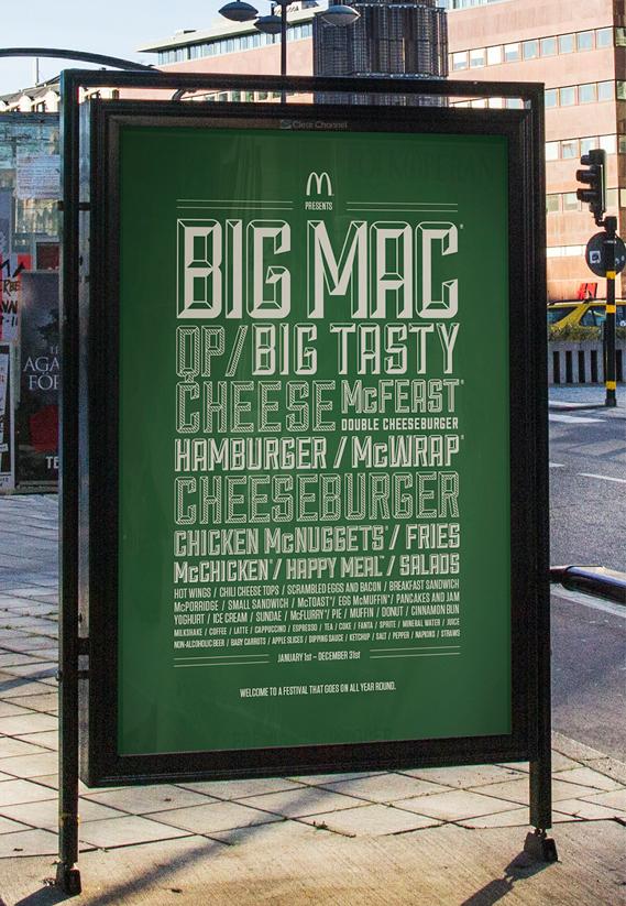 McDonald's festival line-up poster 1