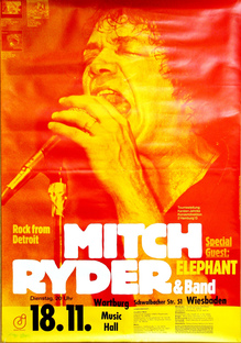 <cite>Mitch Ryder &amp; Band</cite> concert poster