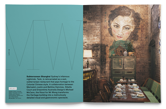 Feature on interiors for Mr Wong as featured in Inside, Issue #75.