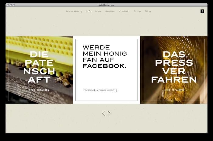 Mein Honig honey farm website 3