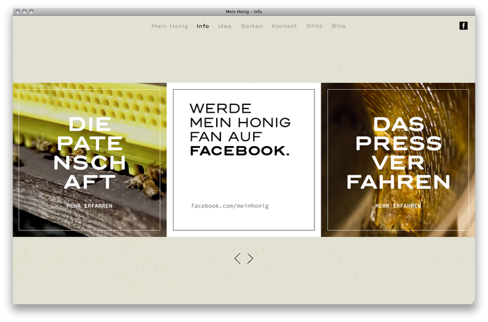 Mein Honig honey farm website 3