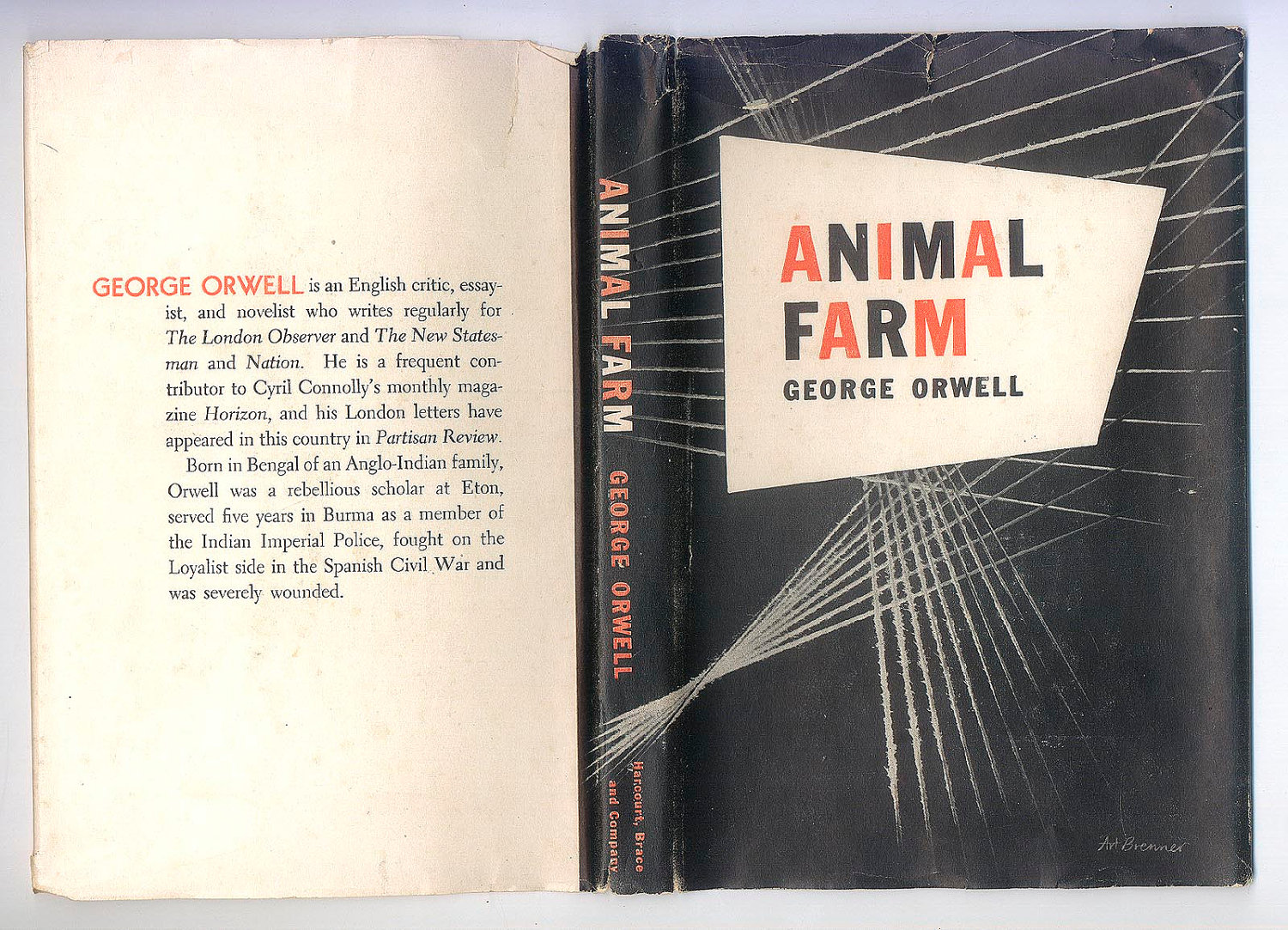 Animal Farm By George Orwell 1st Us Edition Fonts In Use