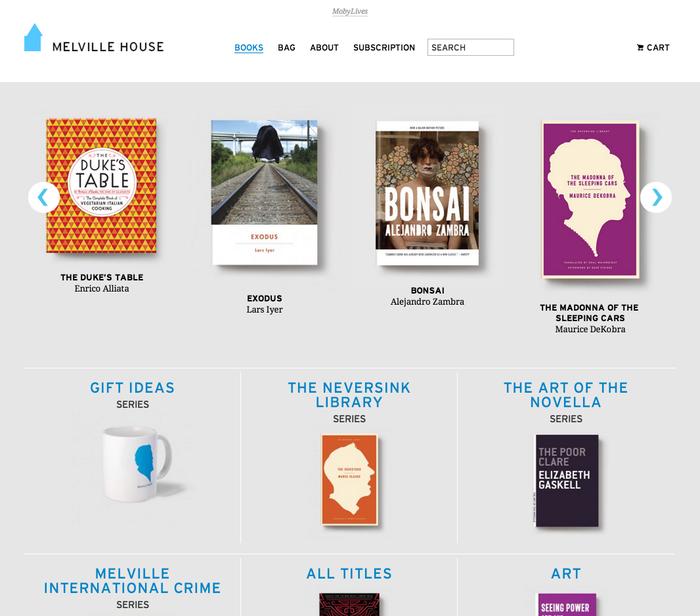 Melville House Website 2