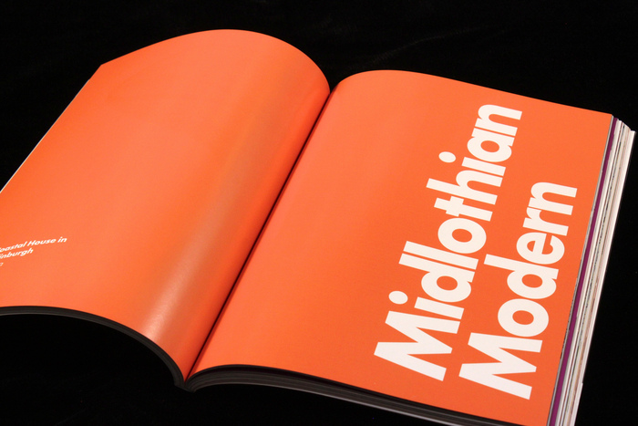Big, bold, tight Futura + orange = The Barbican.