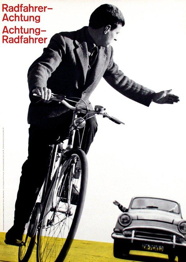 """Cyclist—Caution / Caution—Cyclist"" — 1958"