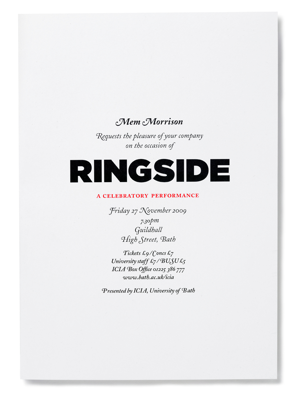Ringside - Fonts In Use