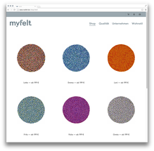 <cite>myfelt</cite> Website