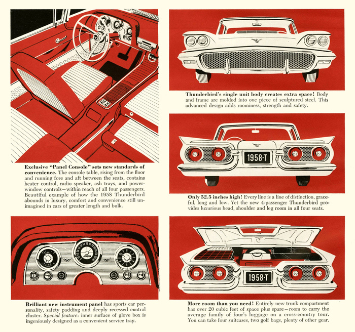 1958 Ford Thunderbird Ad