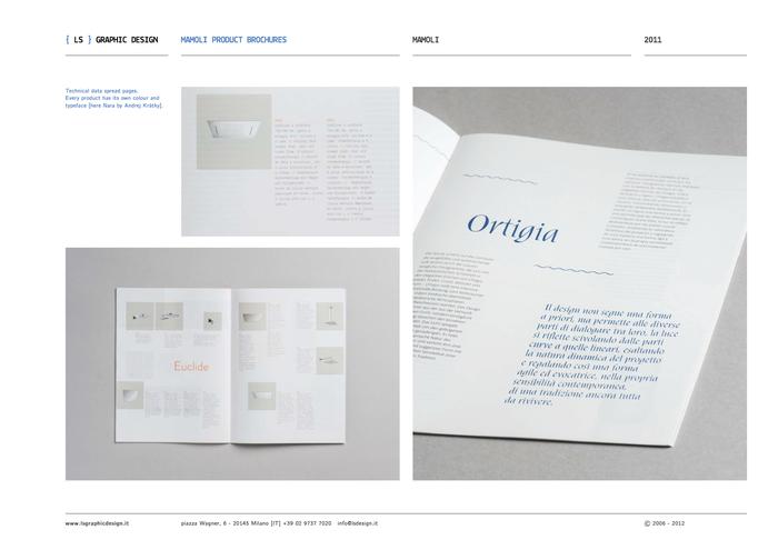 Mamoli product brochures & packaging 10