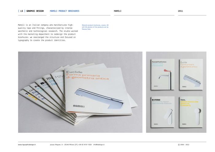 Mamoli product brochures & packaging 11