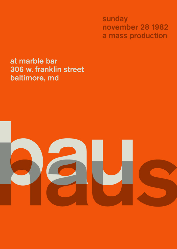 Bauhaus at the Marble Bar, 1982