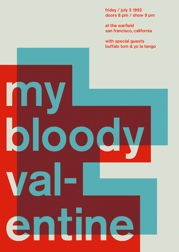 My Bloody Valentine at the Warfield, 1992