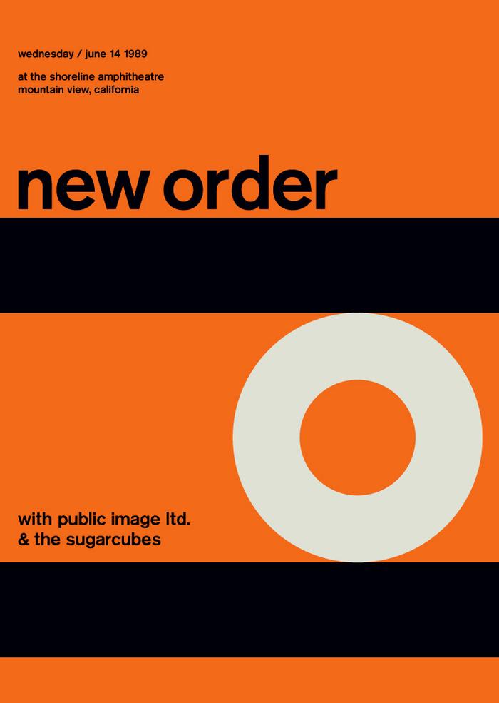 New Order at the Shoreline Amphitheatre, 1989