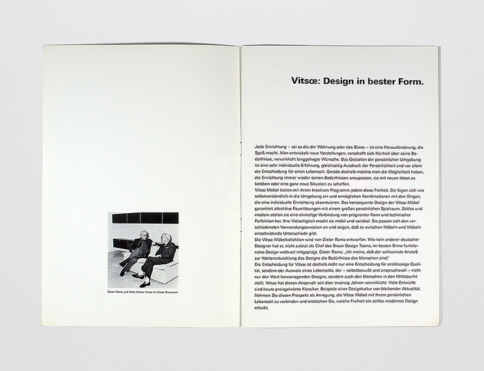 1988 Vitsœ Catalog 4