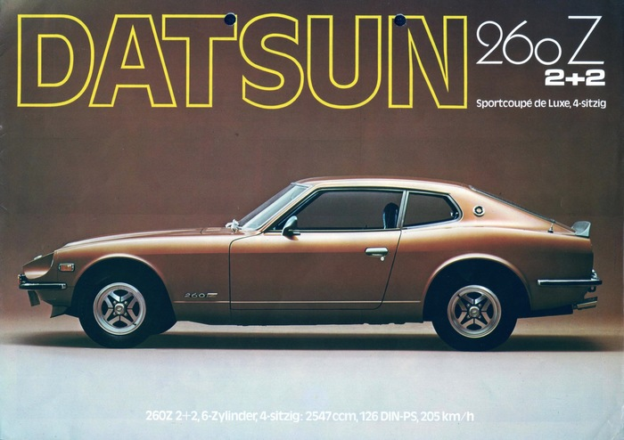 Datsun Germany Brochures: 280Z & 1200 2