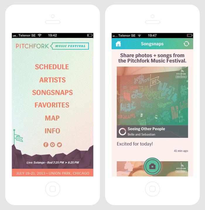 2013 Pitchfork Music Festival App 2