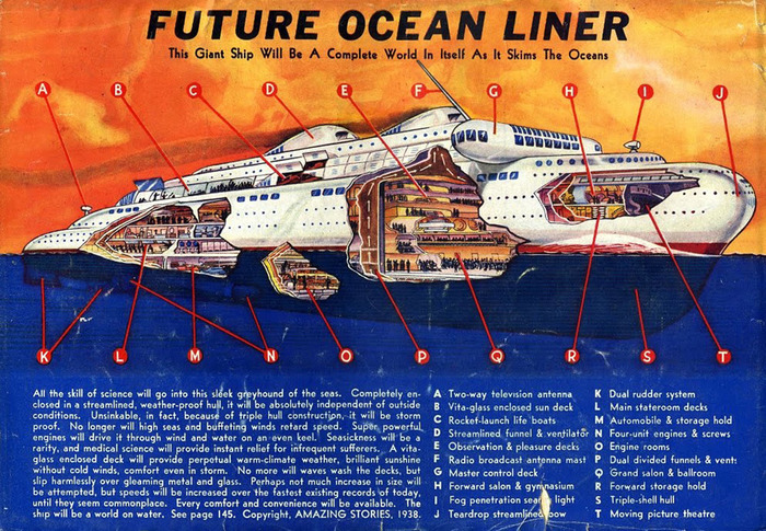 Sea Vessels from Amazing Stories (1938–39) 1