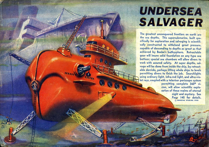 Sea Vessels from Amazing Stories (1938–39) 2