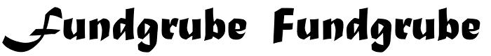 Left: Matura MT Script Capitals. Right: Matura with plain caps