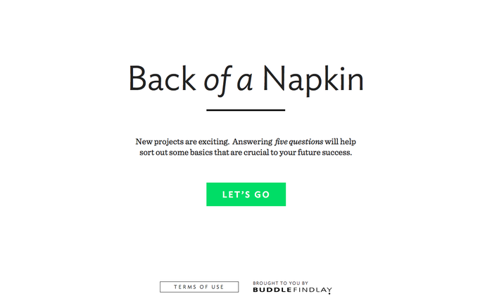 Back of a Napkin